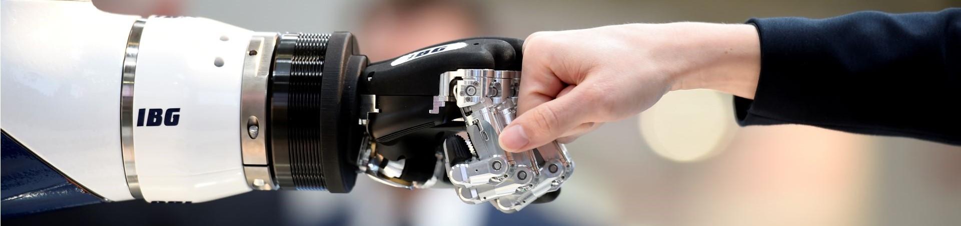 Robot hand and human hand