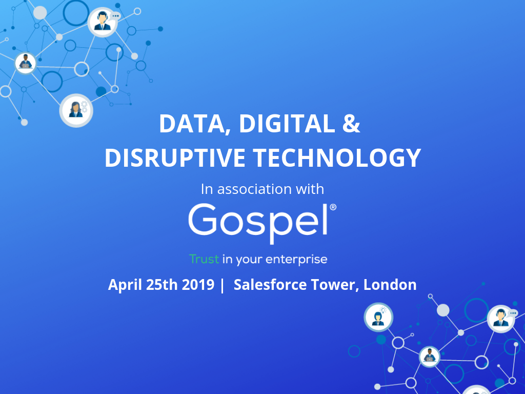 Invitation to Data, Digital and Disruptive Technology event
